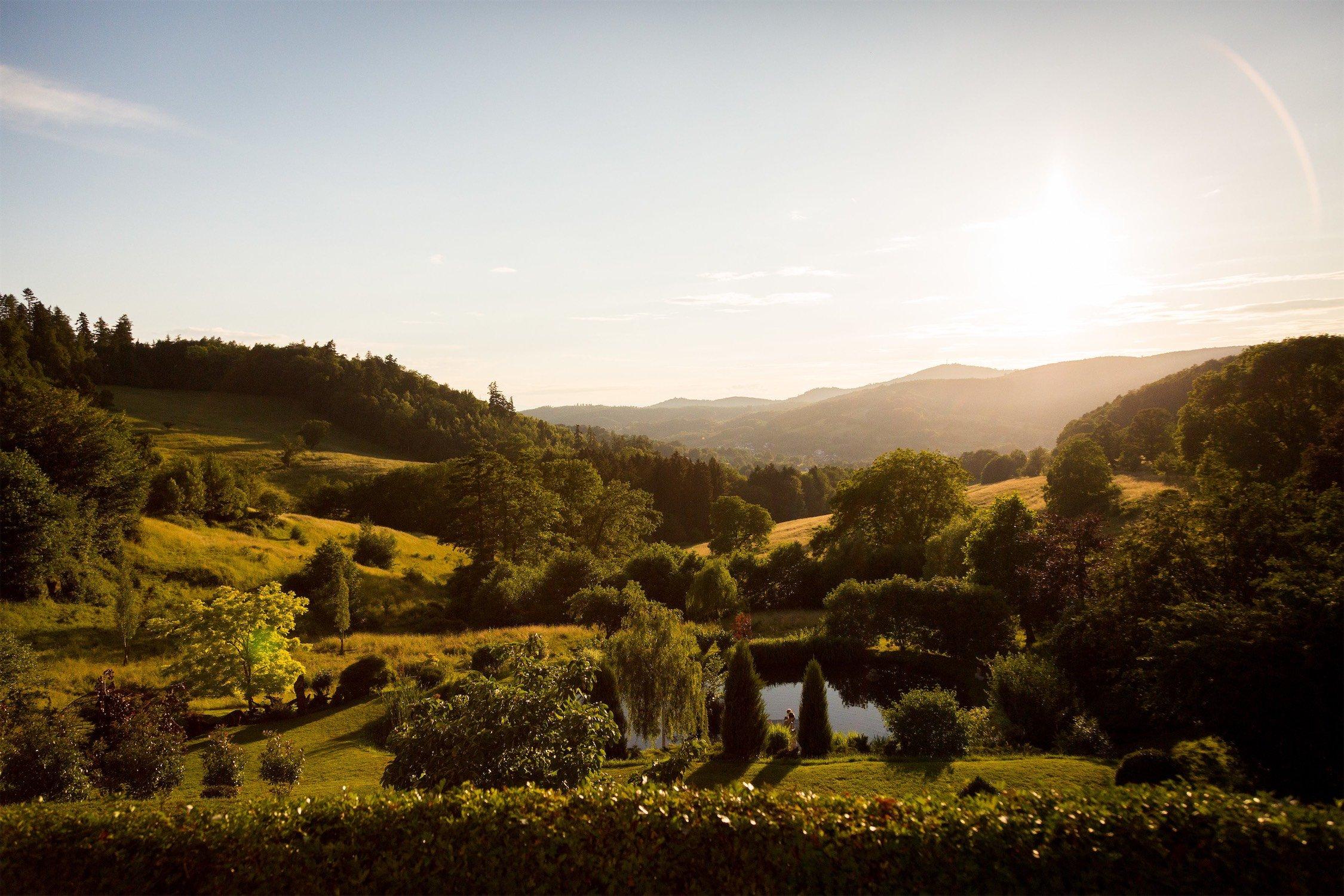 Tolle Landschaft für Fotos am Hofgut Hohenstein