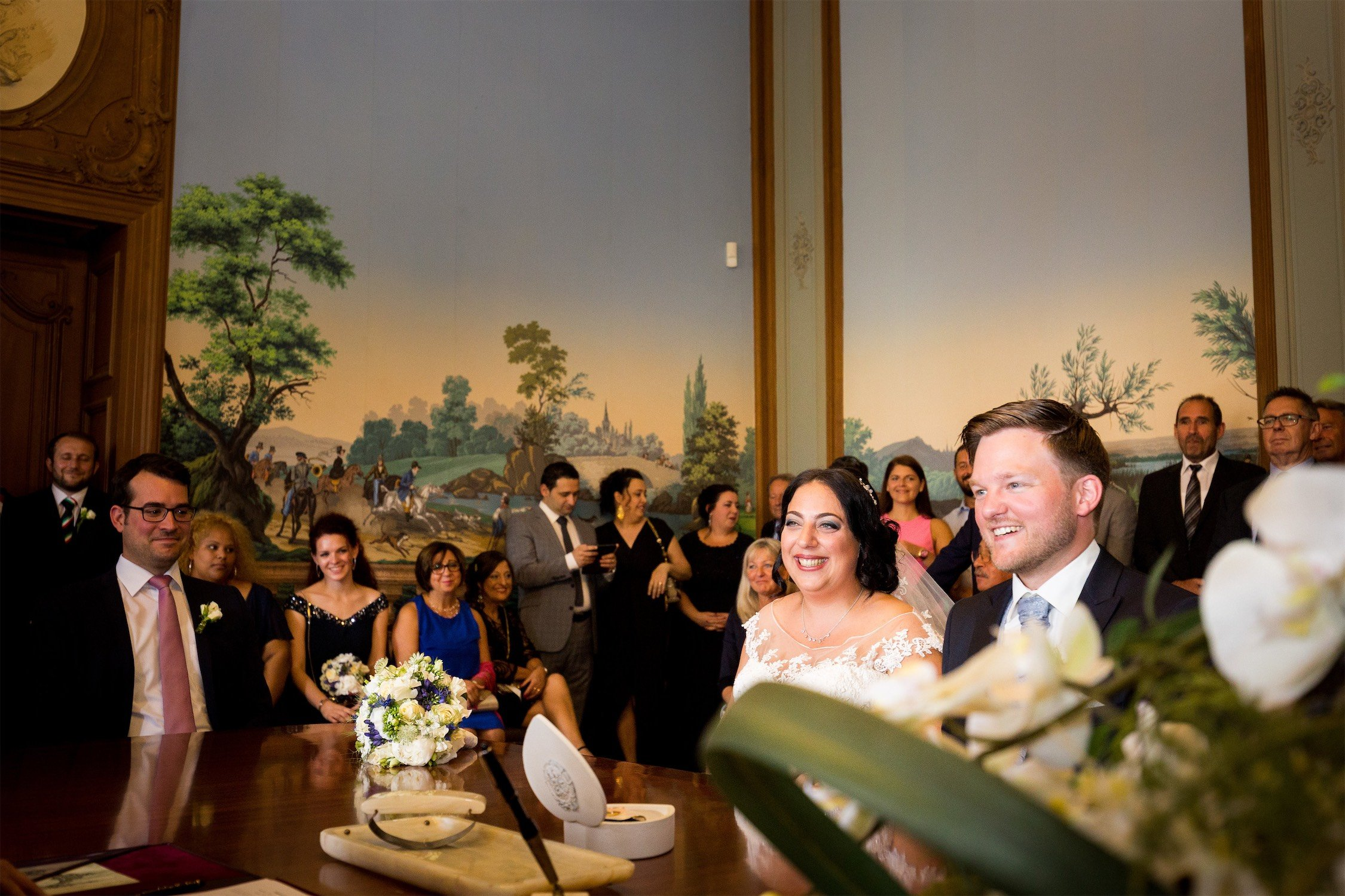 Hochzeit im Schloss Phillipsruhe mit anschließender Feier im Landgasthof Neubauer