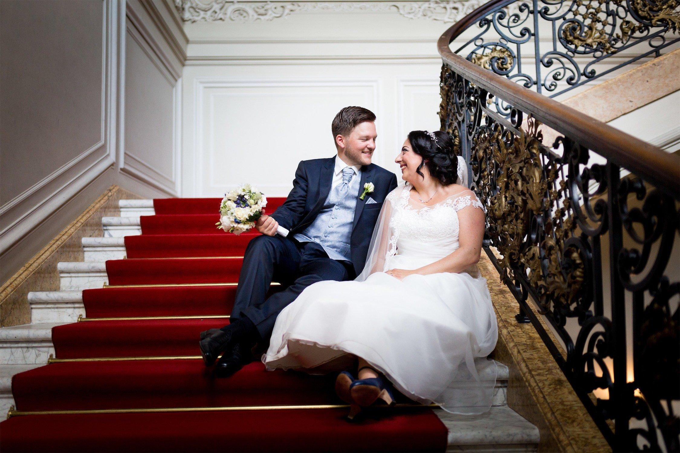 Hochzeitsfotos am Schloss Phillipsruhe in Hanau